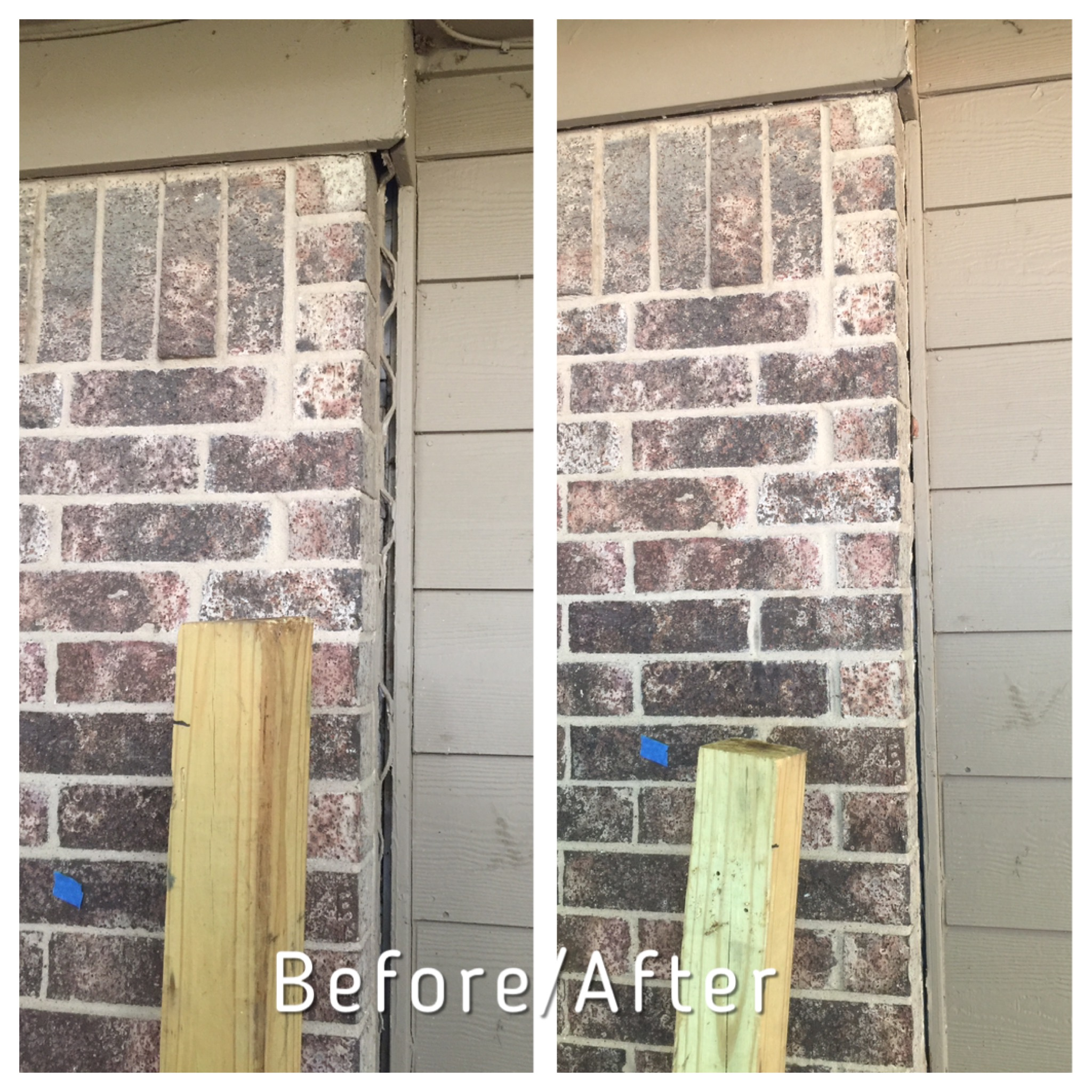 Before and after foundation repair